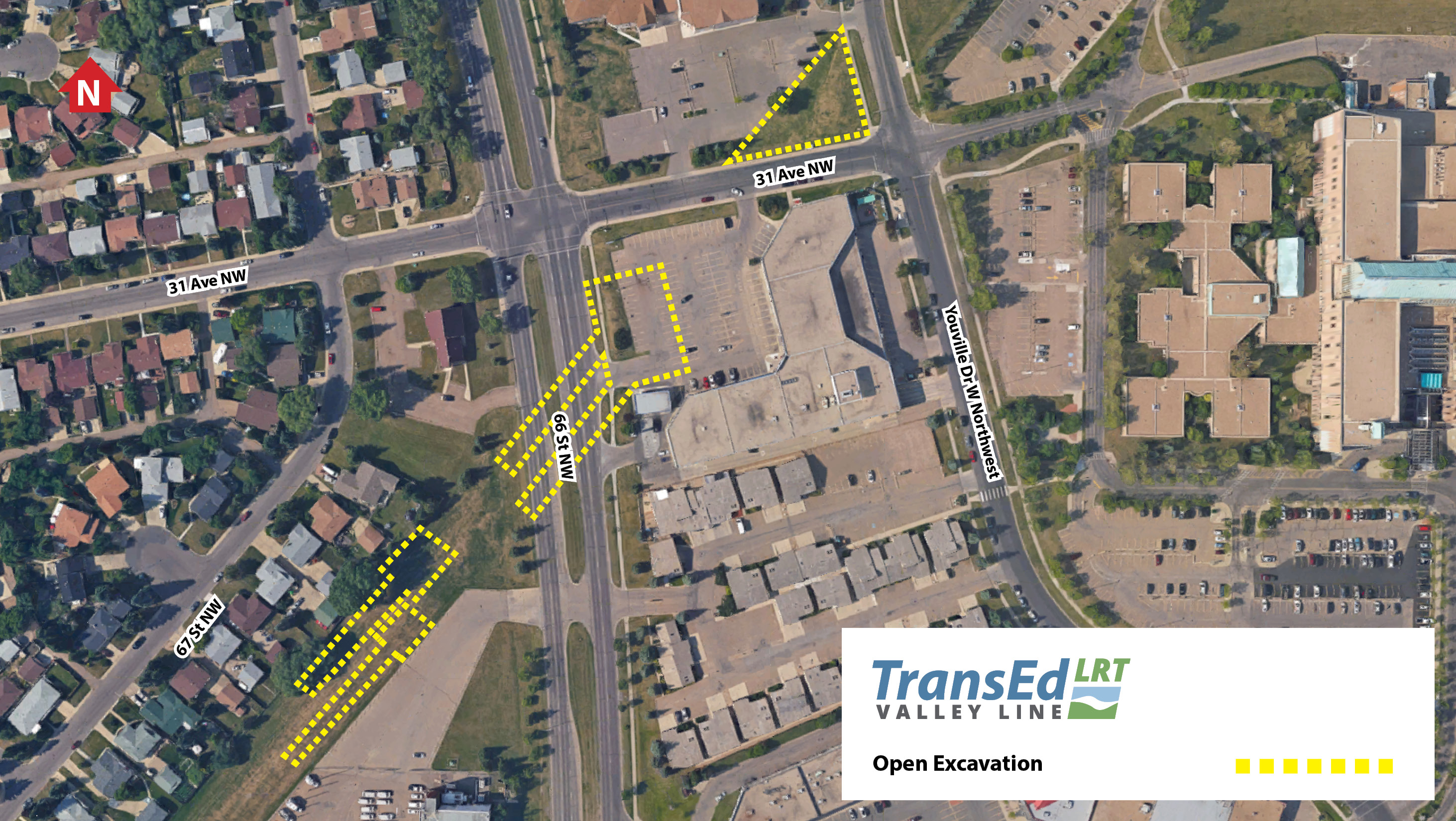 CORRECTION Avenue Between Street And Youville Drive - I drive us closure map