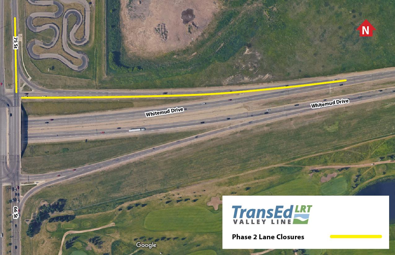 Whitemud Exit Ramp At Street Street Lane Closure Transed I Drive Us Closure Map