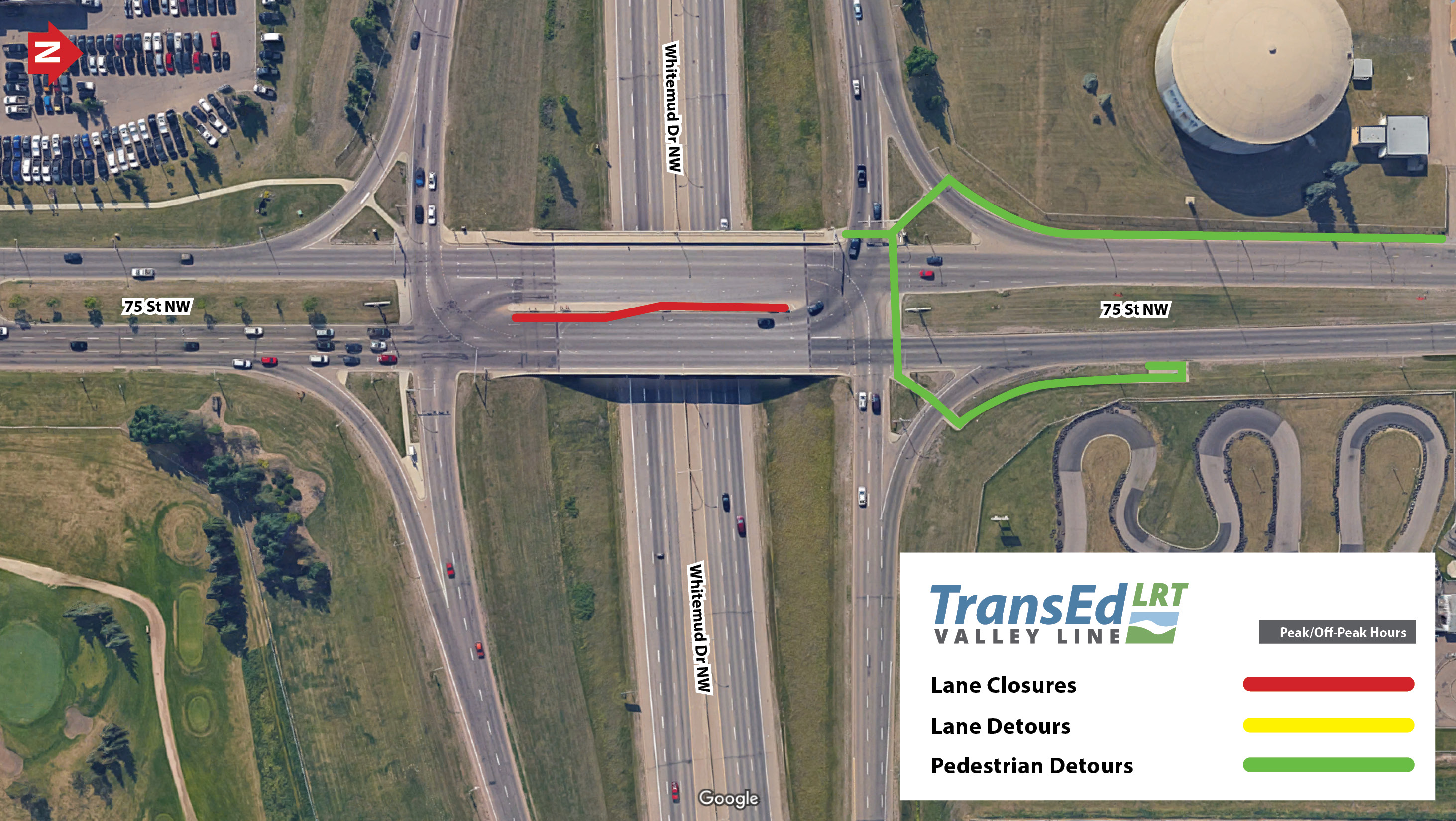 Street Between Wagner Road And Whitemud Drive Lane Closures I Drive Us Closure Map
