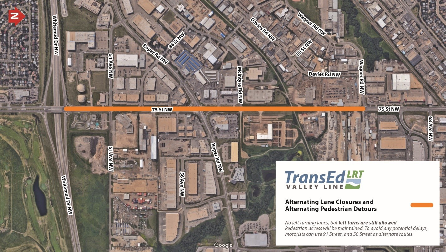 Street And Whitemud Drive Lane Closures Transed Valley Line Lrt I Drive Us Closure Map