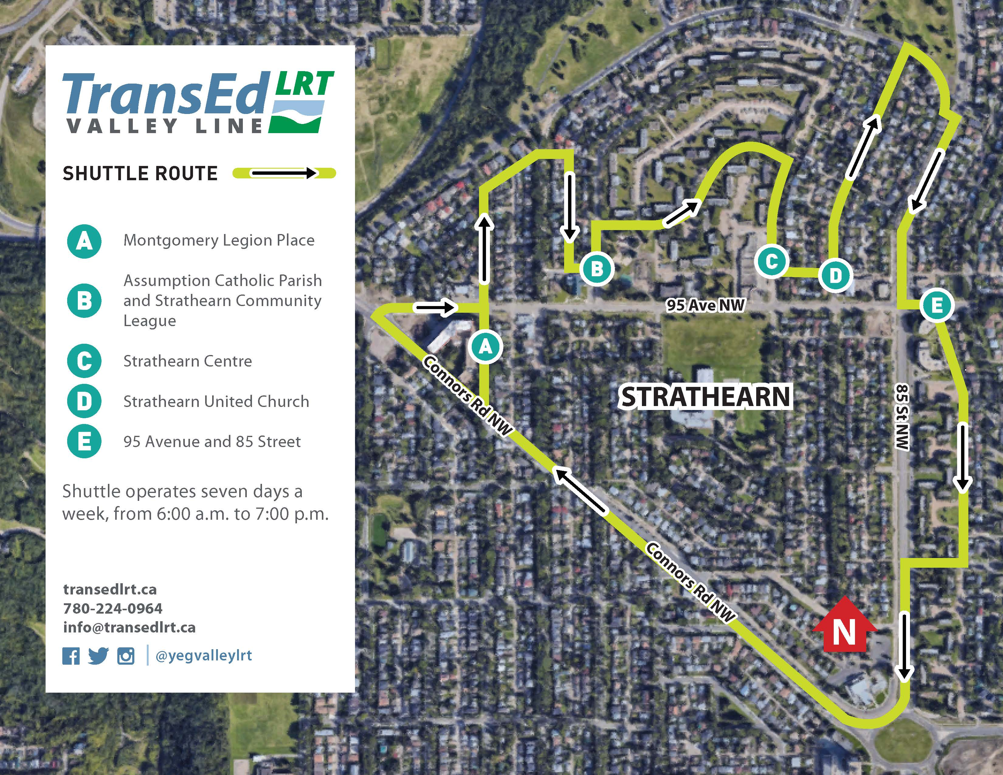 Strathearn Shuttle Route Map